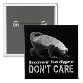 Cool Honey Badger Don t Care Dark Buttons