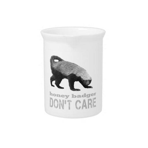 Cool Honey Badger Don't Care (Dark) Beverage Pitcher