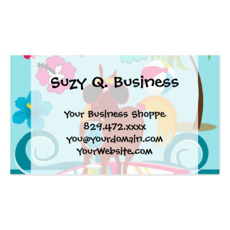 Cool Horse Surfer Dude Summer Fun Beach Party Double-Sided Standard Business Cards (Pack Of 100)
