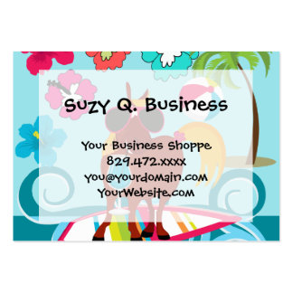 Cool Horse Surfer Dude Summer Fun Beach Party Large Business Card