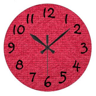 Cool Hot Pink Mosaic Design Wall Clocks