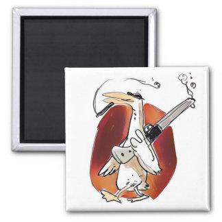 cool hunter duck funny cartoon magnet
