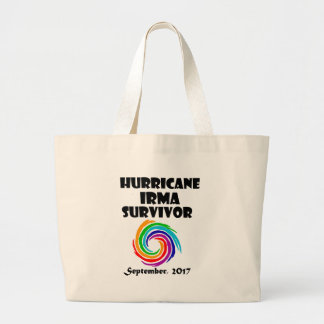 Cool Hurricane Irma Survivor Art Large Tote Bag