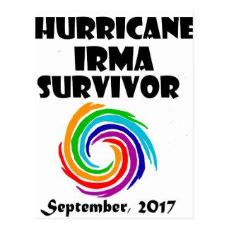 Cool Hurricane Irma Survivor Art Postcard