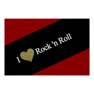 cool I heart rock'n' roll Poster