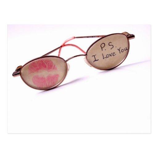 Cool 'I Love You' Design Postcard
