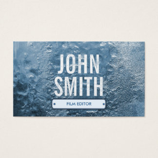 Cool Ice Age Frozen Film Editor Business Card