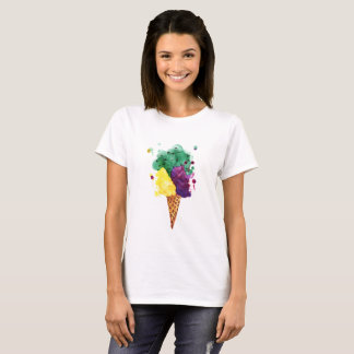 Cool Ice Cream 3 Scoops! Basic T-Shirt