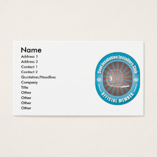 Cool Insulation Installers Club Business Card