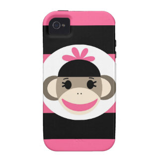 Cool iPhone 4 Cases for Girls Pink Sock Monkey
