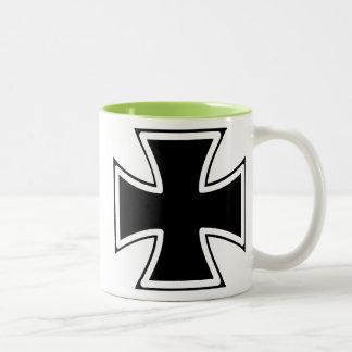 Cool Iron Cross Two-Tone Coffee Mug
