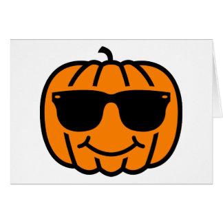 Cool jack-o-lantern with sunglasses card