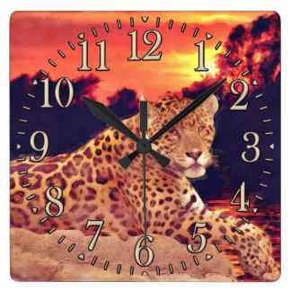 Cool Jaguar at Tikal Big Cat Wildlife Wall Clock