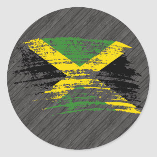 Cool Jamaican flag design Classic Round Sticker