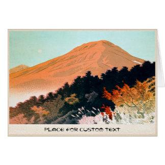 Cool japanese autumn fall mountain Fuji scenery Card