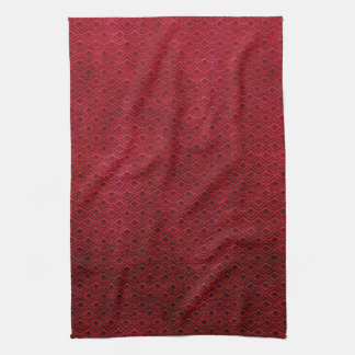 Cool japanese oriental cherry red fish scale kitchen towel