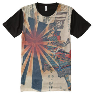 Cool Japanese Samurai Warrior Blistering Sun Art All-Over-Print T-Shirt