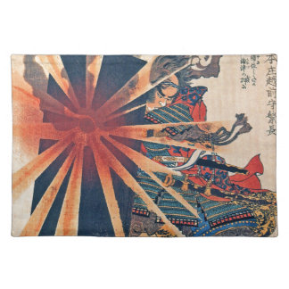 Cool Japanese Samurai Warrior Blistering Sun Art Placemat