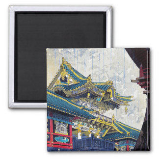 Cool  Japanese Shiro Kasamatsu Ancient Shrine art Magnet
