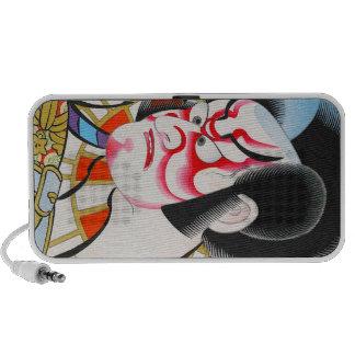 Cool japanese traditional kabuki makeup tadamasa laptop speakers