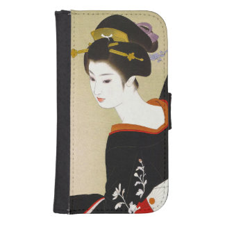 Cool japanese vintage beauty geisha lady woman samsung s4 wallet case