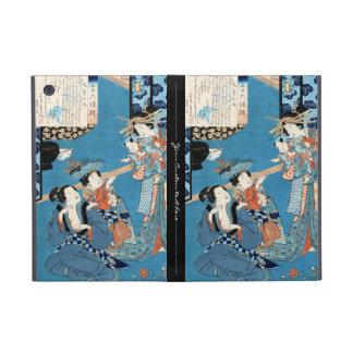 Cool japanese vintage ukiyo-e ladies and child art iPad mini covers