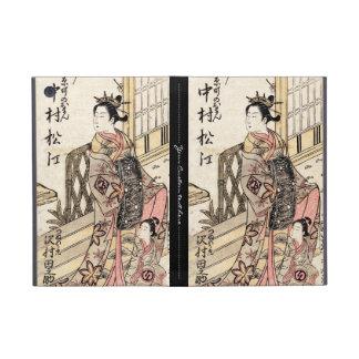 Cool japanese vintage ukiyo-e lady and child case for iPad mini