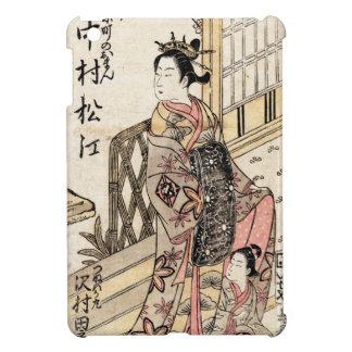 Cool japanese vintage ukiyo-e lady and child iPad mini covers