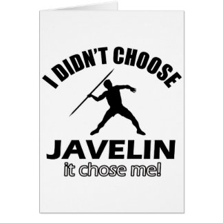 Cool Javelin designs Card
