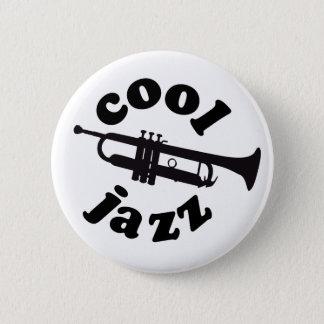 cool jazz print silhouette trumpet 2 inch round button