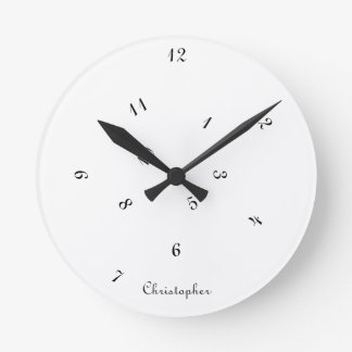 Cool Jumbled Hours Personalized Name Room Decor Round Clock