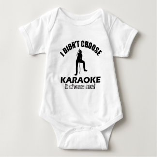 Cool Karaoke designs Baby Bodysuit