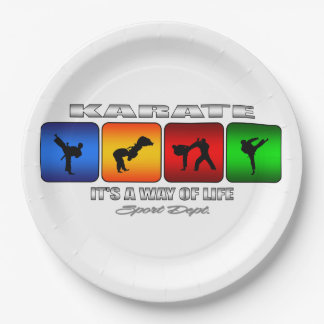 Cool Karate It Is A Way Of Life 9 Inch Paper Plate