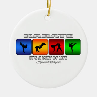 Cool Karate It Is A Way Of Life Round Ceramic Ornament