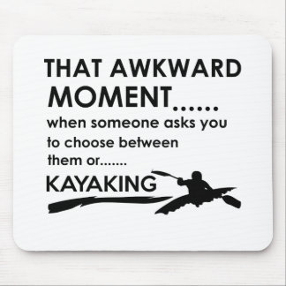 Cool kayak  designs mouse pad