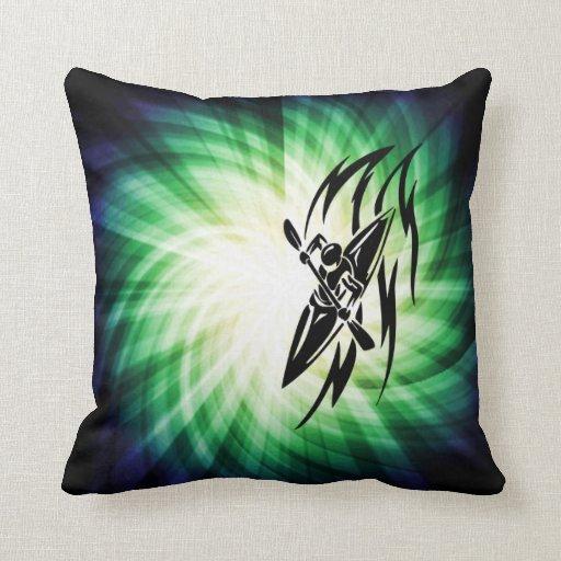Cool Kayaking Throw Pillow