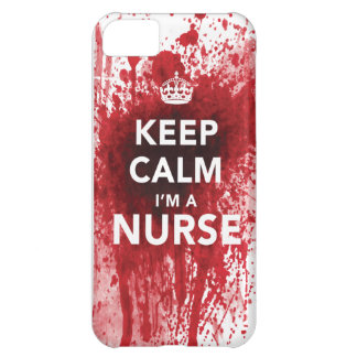 "Cool ""Keep Calm I'm a Nurse"" iPhone 5C Case"