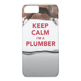 "Cool ""Keep Calm I'm a Plumber"" iPhone 7 case"