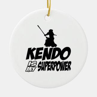 Cool KENDO designs Round Ceramic Ornament