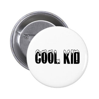 Cool Kid Black Pinback Buttons