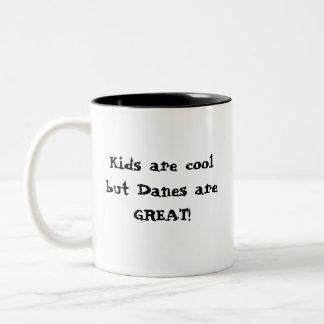 Cool Kids, Great Danes Two-Tone Coffee Mug