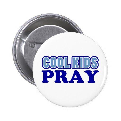 Cool Kids Pray (Blue) Pin