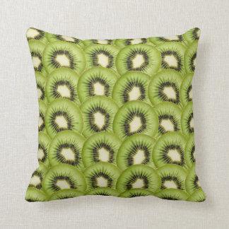 Cool Kiwi Fruit Throw Pillow