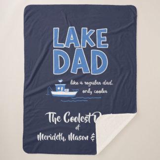 Cool Lake Dad Custom Gift Sherpa Blanket