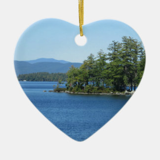 Cool Lake Island Shot Ceramic Ornament