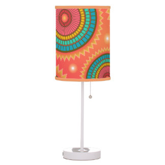 Cool Lamp with Colourful Orange Pattern