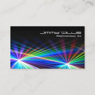 Cool dj business cards profile cards zazzle ca cool laser light club dj business card colourmoves