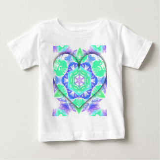 Cool Lavender Mint Green 3d Heart Shaped Patterns Baby T-Shirt