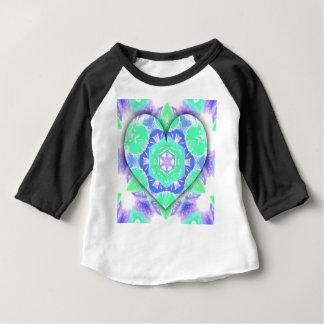 Cool Lavender Mint Green 3d Heart Shaped Patterns Baby T-Shirt