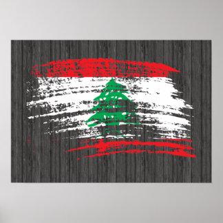 Cool Lebanese flag design Poster